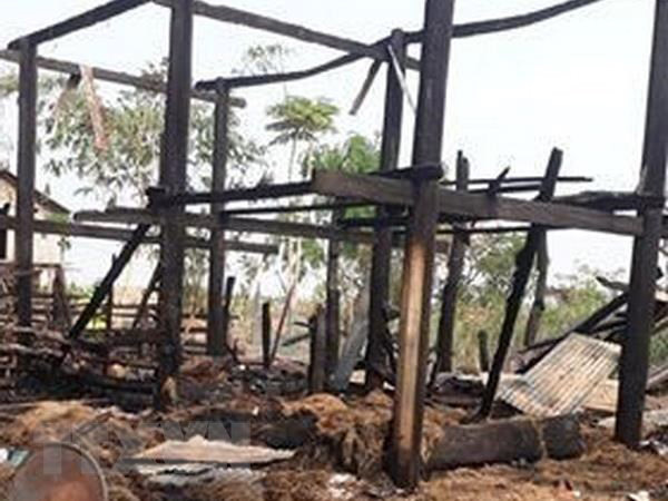 A stilt house fire killed a three-year-old girl in Gia Lai