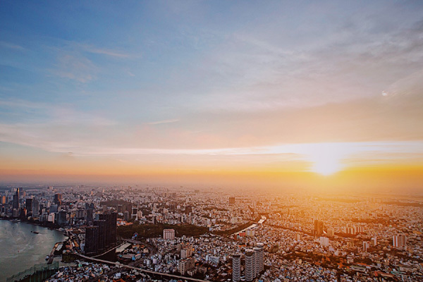 Hình ảnh 'độc nhất vô nhị' về Sài Gòn từ độ cao 383m