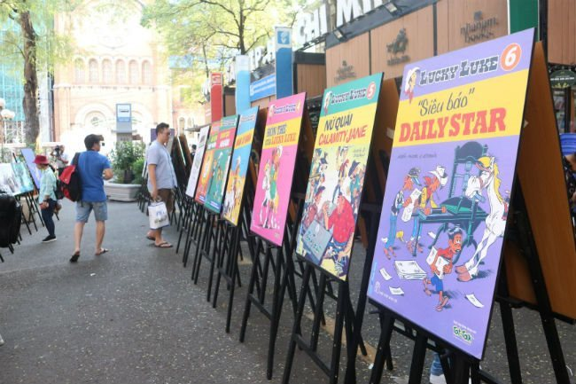 Belgian comic books on display in HCM City