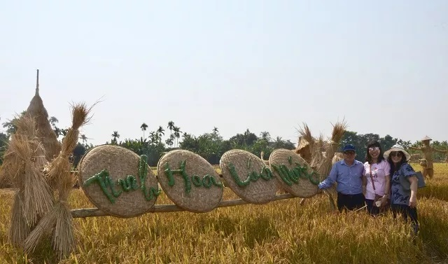 Harvest time in Vietnam's countryside