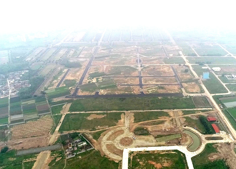 mê linh,khu đô thị bỏ hoang,dự án thu hồi,bất động sản Hà Nội