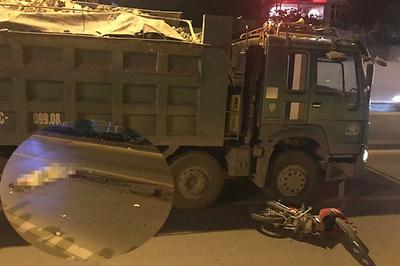 Xe tải đâm xe máy trong hầm Kim Liên, người đàn ông chết thảm