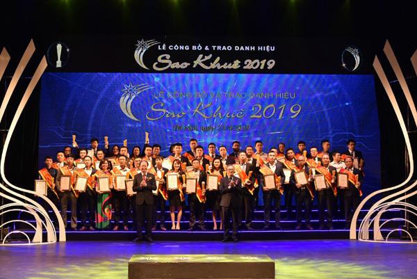 Agribank nhận 'cú đúp' ở giải thưởng Sao Khuê 2019