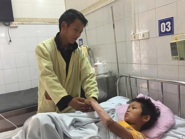 bỏng điện cao thế,hoàn cảnh khó khăn,bệnh hiểm nghèo,từ thiện vietnamnet