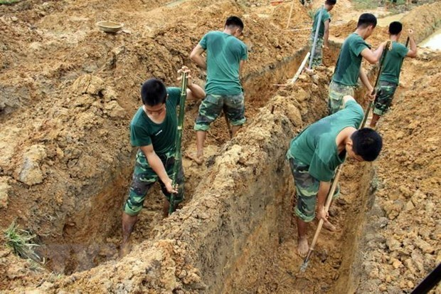 Quang Tri: remains of 20 war martyrs collected