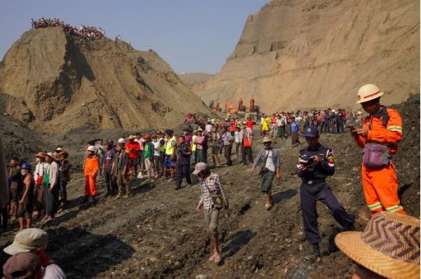 lở đất,thảm hoạ,mỏ ngọc,Myanmar