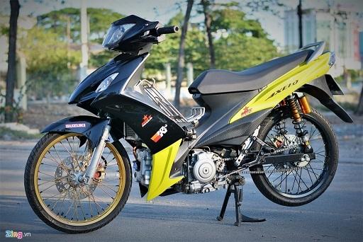 Suzuki Axelo độ động cơ khủng gấp 3 sức mạnh, tốn gần 100 triệu đồng