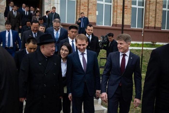 Hình ảnh đầu tiên của Kim Jong Un tại Nga