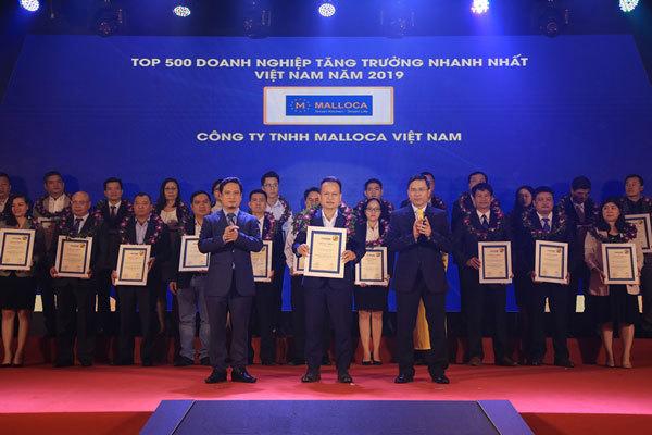 Malloca vào Top 500 doanh nghiệp tăng trưởng nhanh nhất 2019