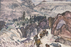 Paintings recall memory of historic Truong Son Trail