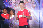 Quang Hải và bạn gái hotgirl gây chú ý tại buổi ra mắt 'Avengers: Endgame'