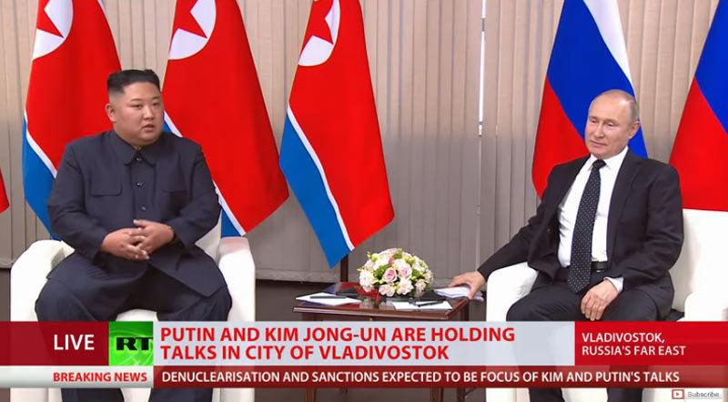 Những hình ảnh đầu tiên của cuộc gặp Putin – Kim