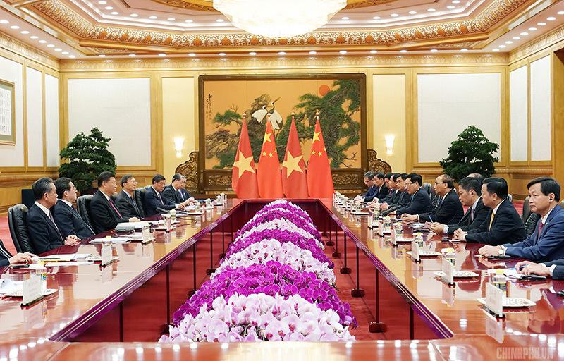 Thủ tướng hội kiến Tổng bí thư, Chủ tịch nước Trung Quốc Tập Cận Bình