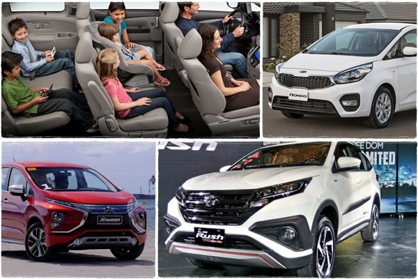 Toyota Rush,Mitsubishi Xpander,Kia Rondo,ô tô giá rẻ,xe gia đình