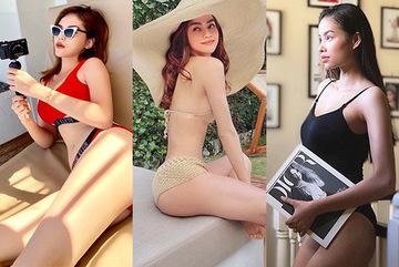 Hồ Ngọc Hà, Kỳ Duyên, Phạm Hương diện bikini khoe thân hình bốc lửa