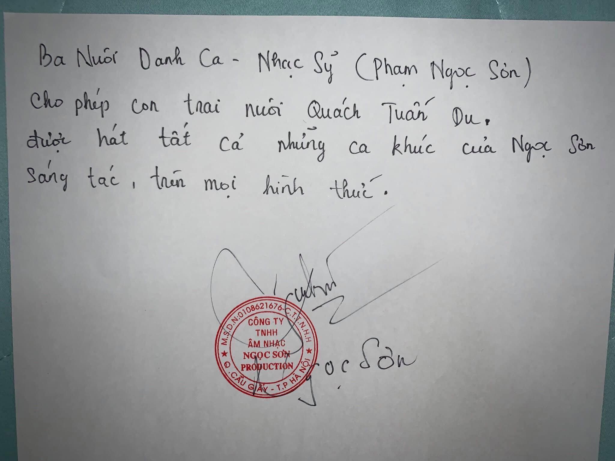 Quách Tuấn Du,Ngọc Sơn