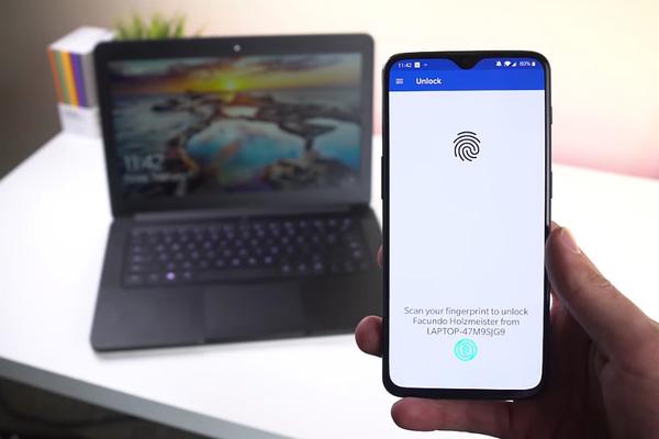 Cách mở máy tính Windows 10 bằng cảm biến vân tay trên smartphone Android