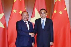 Thủ tướng hội đàm với Thủ tướng Trung Quốc Lý Khắc Cường