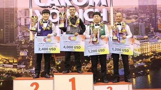 Vietnam's top cueist beats world prodigy to claim Asian three-cushion carom title