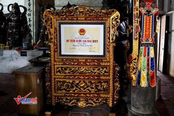 Vào năm 2013, chùa Dâu đã được công nhận là di tích quốc gia đặc biệt