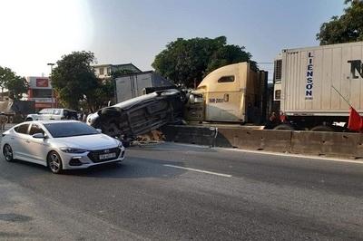 Nguyên nhân xe container đâm dồn toa loạt xe dừng đèn đỏ ở Hà Tĩnh