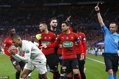 Mbappe bị đuổi, PSG mất cúp quốc gia Pháp dù dẫn trước 2 bàn