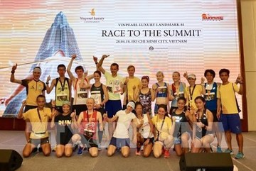 HCM City: over 700 runners conquer 81-storey skyscraper
