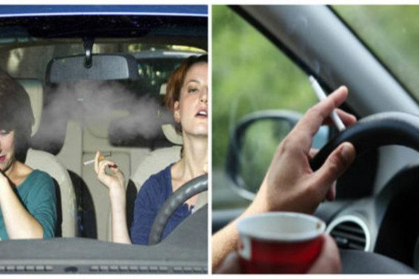 Tai hại khi hút thuốc trong ô tô, dù mở cửa