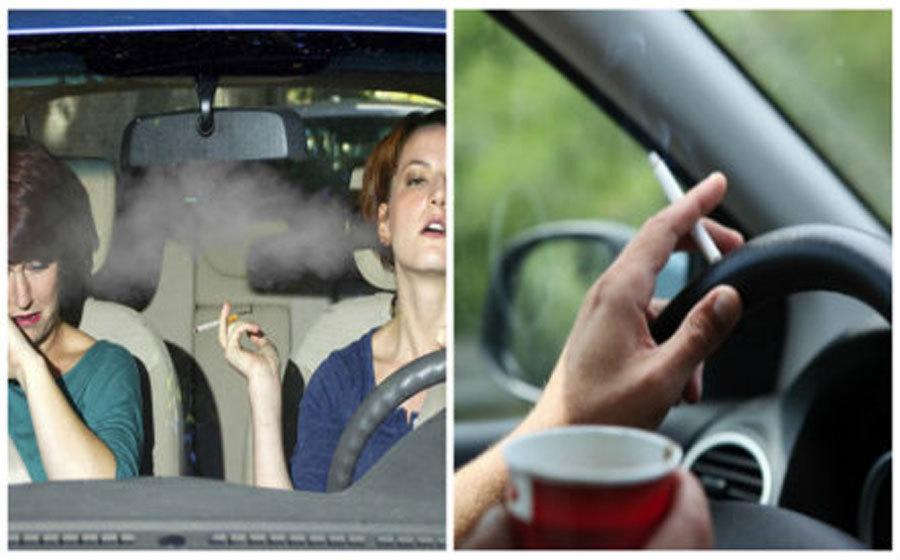 lưu ý khi lái xe,hút thuốc lá