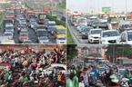 Hết nghỉ lễ về Thủ đô: Xế hộp xếp dài bất tận trên cao tốc Pháp Vân