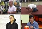 Quốc Thuận quỳ gối, dập đầu trước linh cữu của nghệ sĩ Lê Bình