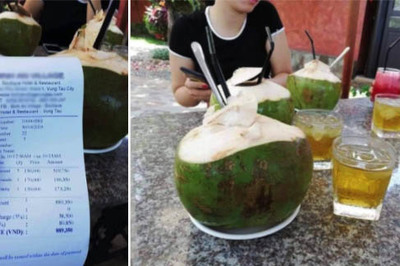 Hóa đơn 150.000 đồng/quả dừa và những màn chặt chém du khách dịp lễ