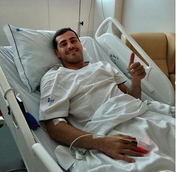 Thủ môn Iker Casillas lên cơn đau tim, phải nhập viện gấp
