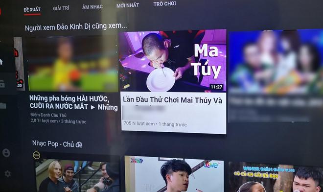 YouTube VN lại xuất hiện video 'độc hại' hướng dẫn sử dụng ma túy