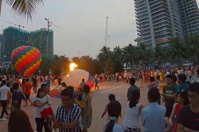 Cháy khinh khí cầu ở Đà Nẵng, nữ phi công bị bỏng