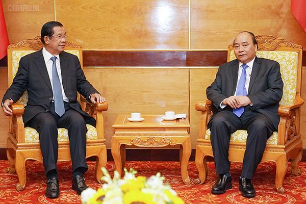 Thủ tướng tiếp lãnh đạo Campuchia, Lào sang dự Quốc tang Đại tướng Lê Đức Anh