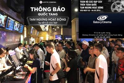 Toàn bộ hệ thống rạp chiếu phim khắp Việt Nam đồng loạt đóng cửa