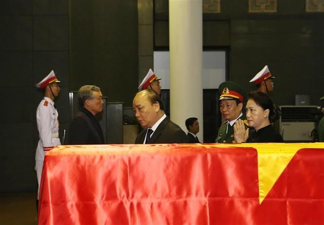 Former President Le Duc Anh's funeral begins two-day national mourning