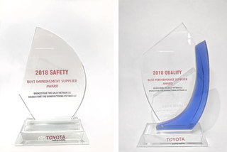 Bridgestone VN nhận hai giải thưởng từ Toyota VN