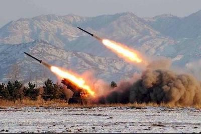 Triều Tiên vừa phóng một loạt tên lửa