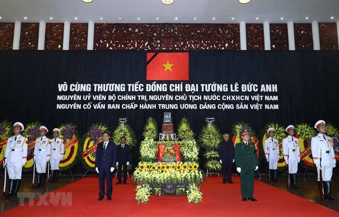 Former President Le Duc Anh laid to rest in HCM City