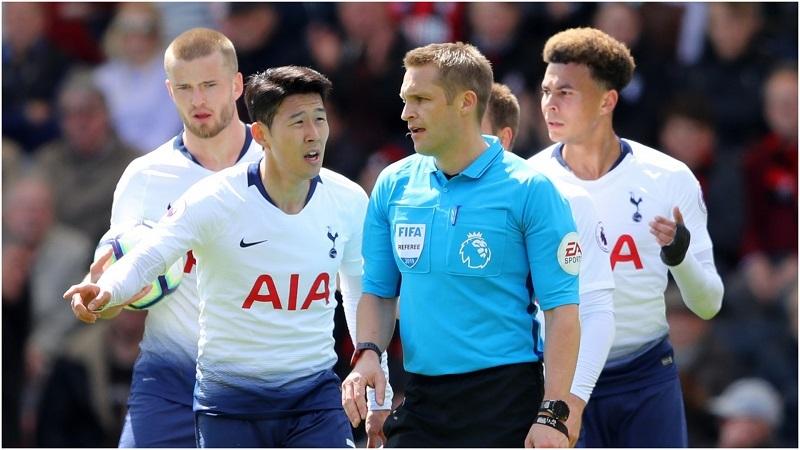 Son Heung Min đánh người, 9 cầu thủ Tottenham thua đau Bournemouth