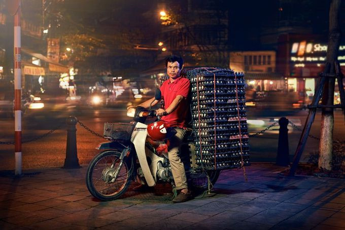 Hanoi motorcycle drivers captured through the lens of British photographer