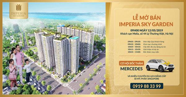 Dự án Imperia Sky Garden- cơ hội mua nhà nhận Mercedes