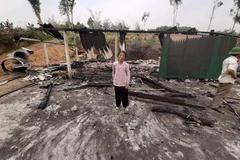 Chập điện, lửa thiêu rụi căn nhà cụ bà 80 tuổi ở Hà Tĩnh