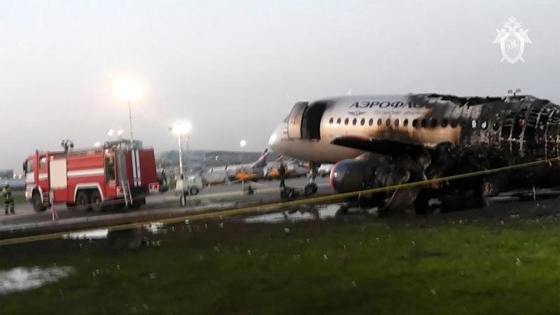 Nga,máy bay Nga,cháy máy bay Nga,tai nạn máy bay,sét