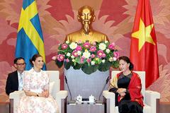 Chủ tịch Quốc hội tiếp Công chúa kế vị Thụy Điển