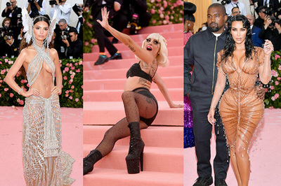 Lady Gaga cởi váy 3 lần, chị em Kardashian khoe trọn đường cong bốc lửa