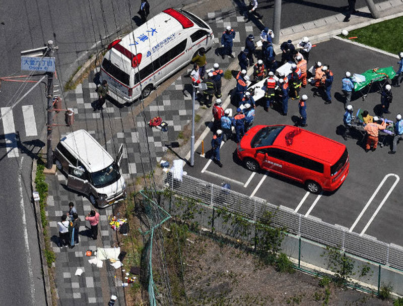 Tai nạn ô tô,ô tô đâm nhau,học sinh mẫu giáo,Nhật Bản