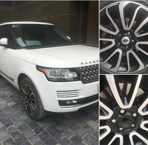 """Hết trộm gương, xe sang Range Rover bị """"vặt"""" logo mâm xe"""